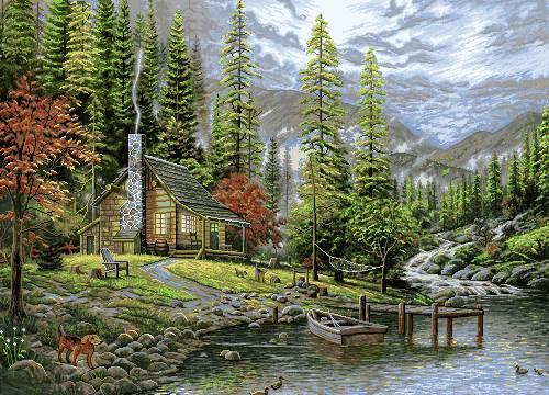 خانه در کنار رود