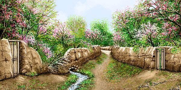 طبیعت باغ بهاری روستا
