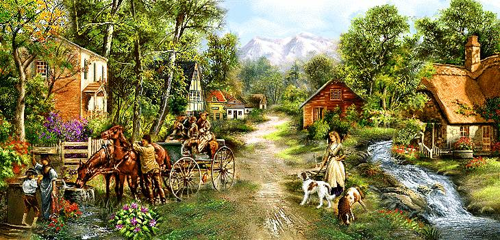 زندگی روستای سرسبز
