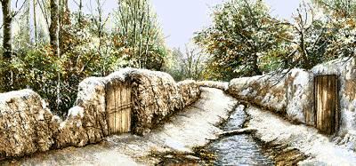 زمستان در کوچه روستا