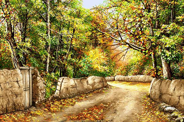 کوچه هایی پاییزی روستا