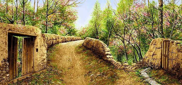 درختان بهاری در روستا