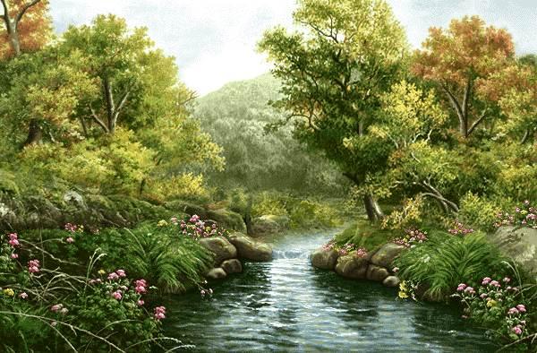 منظره رودخانه و طبیعت