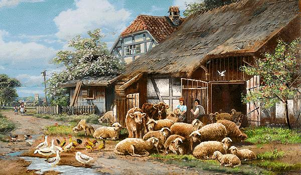 حیوانات طویله روستا