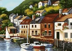 خانه های کنار رودخانه
