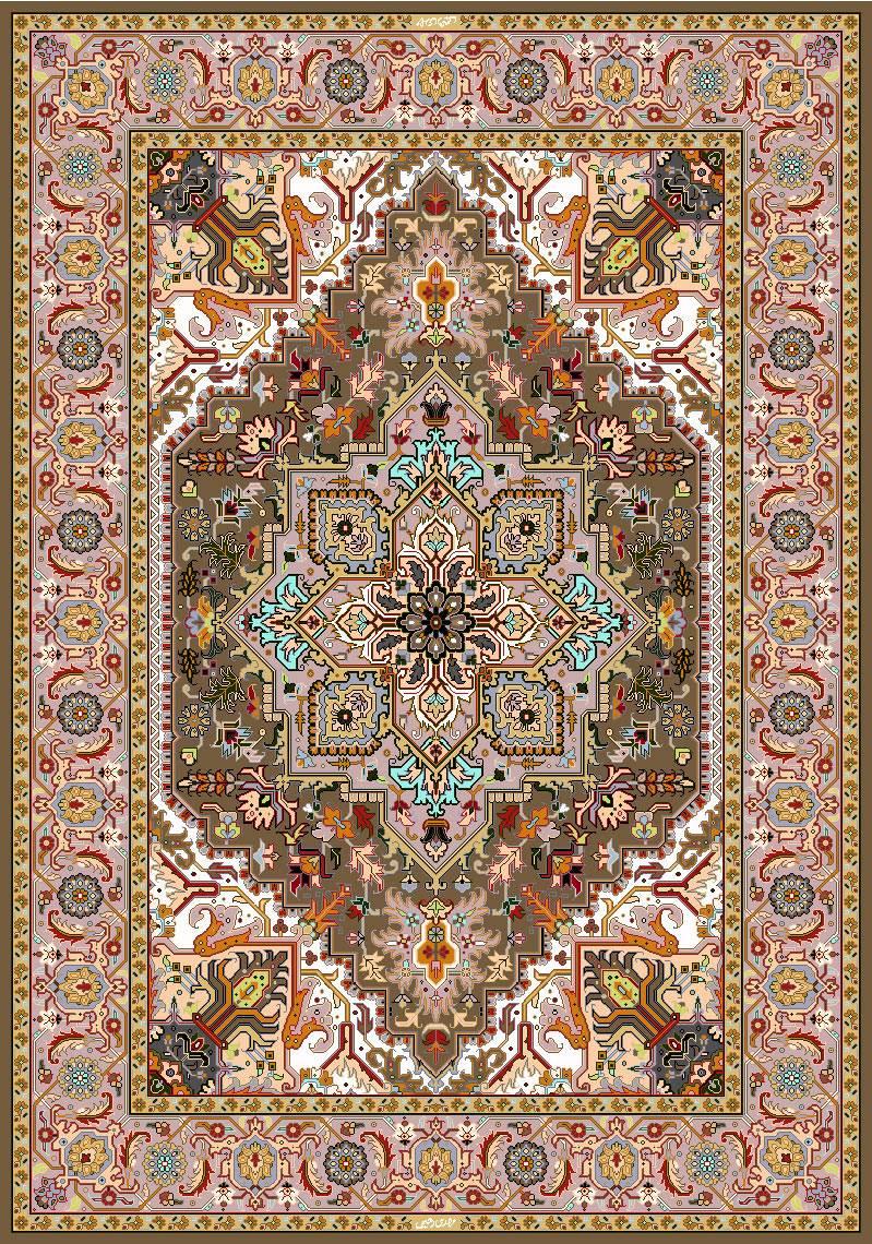 فرش کرمی رنگ