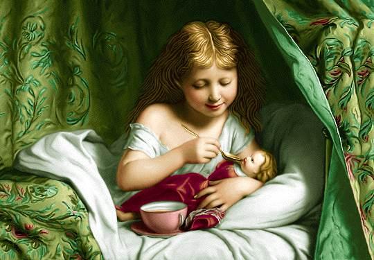 مهر کودکانه دختربچه