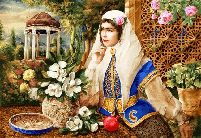 زن ایرانی حافظیه