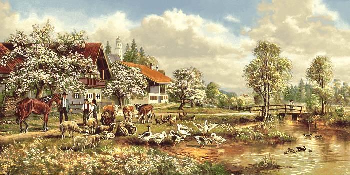 طبیعت و منظره روستایی