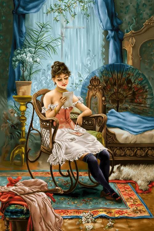 نامه عاشقانه دختر جوان