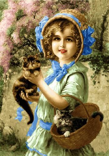 دختربچه با بچه کربه