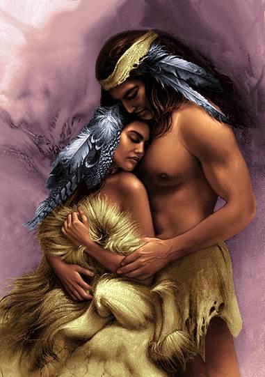 زن و مرد سرخپوست عاشق