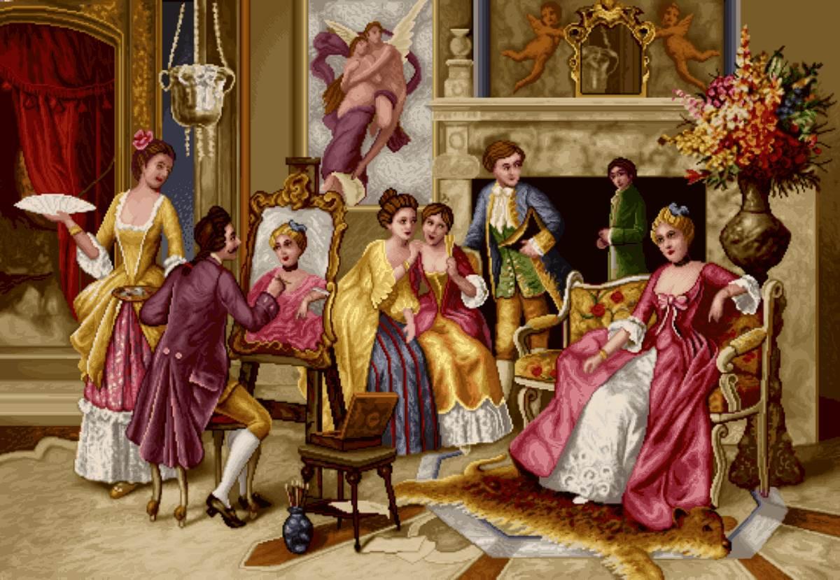 نقاشی چهره مهمانی اشرافی