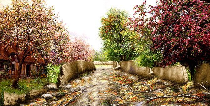 کوچه باغ بارانی 4