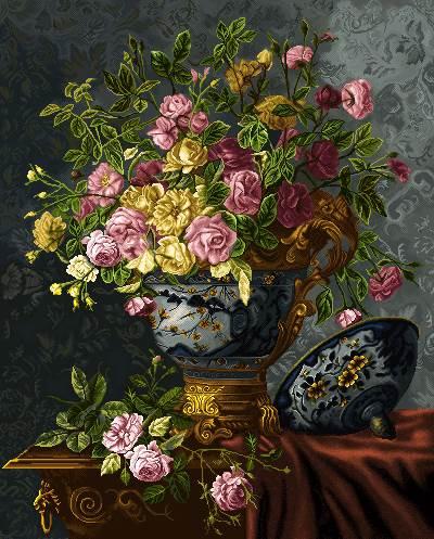 گلدان گلهای رز