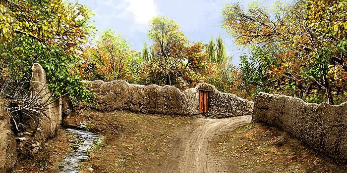 دیوارهای گلی روستا