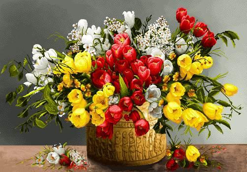 گلدان گلهای لاله