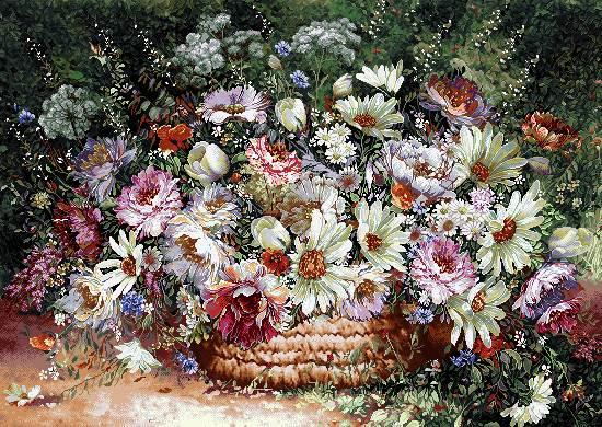 گلدان گل شلوغ