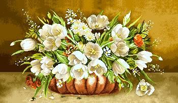 گلدان گل عرضی
