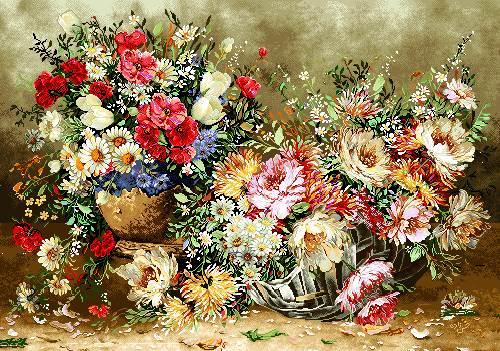 گلهای زیبا داخل گلدان