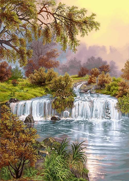 آبشار کوچک جنگلی