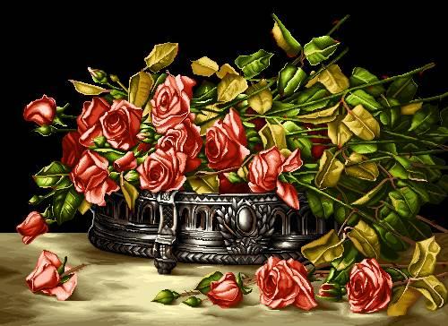 شاخه گلهای رز قرمز