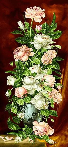 گلدان گل طولی