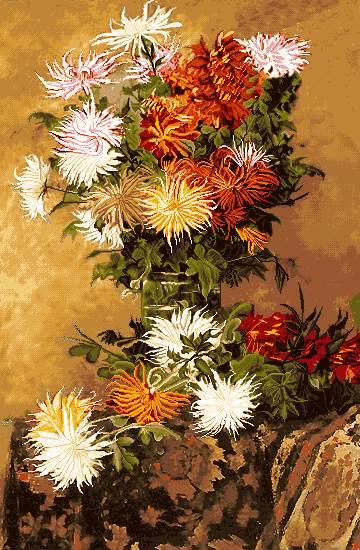 گلدان گل نقاشی
