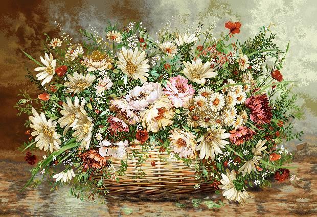 گلدان گل حصیری