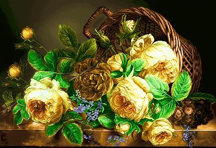 سبد گلهای بزرگ