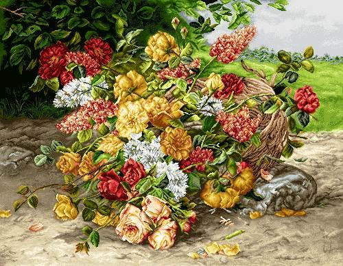 سبد گل در طبیعت