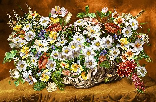 سبد گلهای زیبا