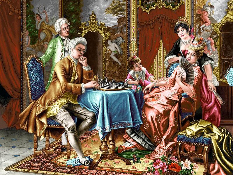 بازی شطرنج خانواده اشرافی