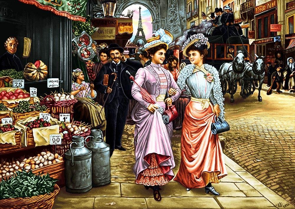 دختران اشرافی در بازار