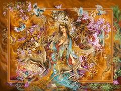 دختر آهو پرندگان